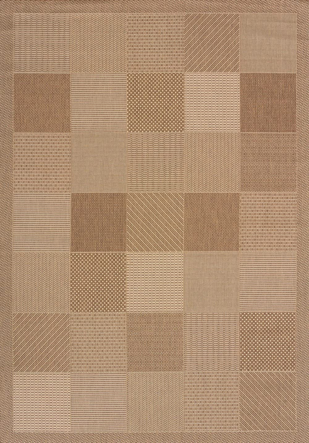 United Weavers of America Patio Block Area Rug, 5 3 x 7 6 , Terracotta