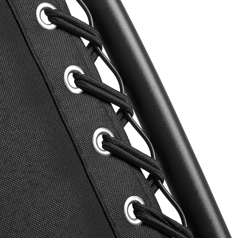diverses Couleurs - avec Rembourrage de T/ête Amovible Charge Max: 110 kg TecTake 800583 Chaise Longue Toile Tendue Blanc | n/° 402928 Pliable