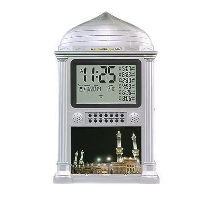 Amazoncom Azan Alarm Clock Islamic Digital 5 Namaaz Reminder