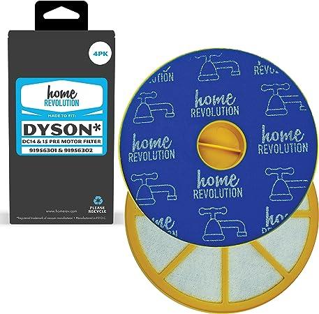 Dyson DC-14 DC-15 parte # 91956301 y 91956302 para Dyson para aspiradora modelos, comparable prefiltro. Un home Revolution marca de repuesto de gran calidad de repuesto Color Plateado: Amazon.es: Hogar