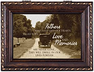 Cottage Garden Fathers Who Left Hearts Filled Memories Burlwood Rope Trim Jewelry Music Box Plays Canon in D