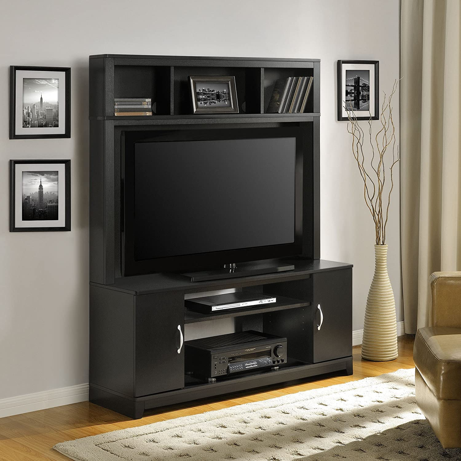 Amazon Home TV Stands Wood Entertainment Media Center for
