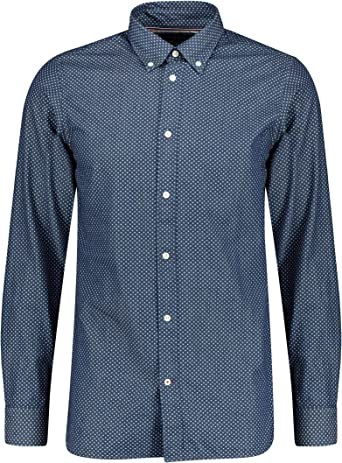 Tommy Hilfiger Slim Indigo Look Print Shirt Camisa para Hombre