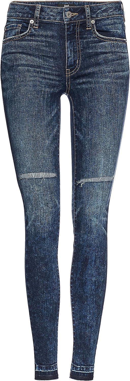 Jeans Skinny a Vita Alta con Strappi Donna find Marchio