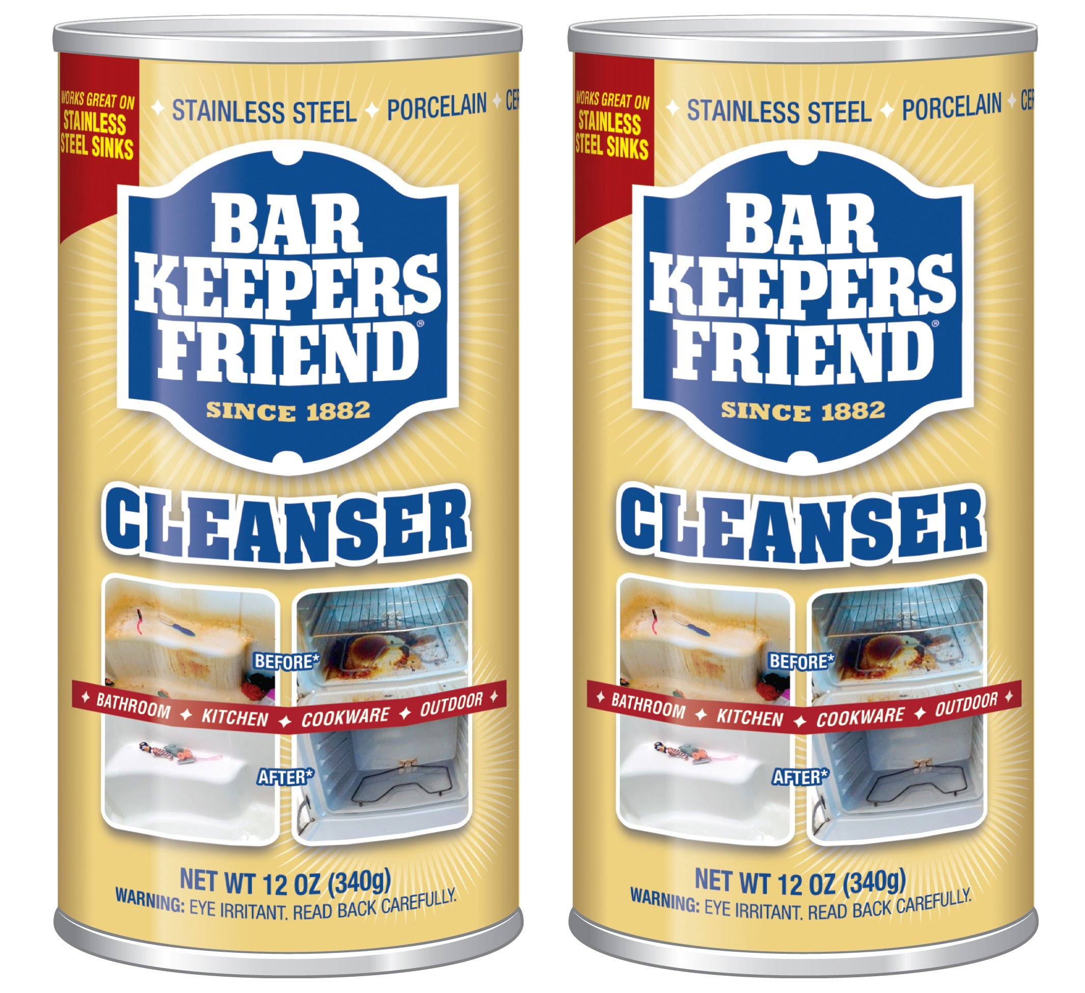 BAR KEEPERS FRIEND Powdered Cleanser 12-Ounces (2-Pack)']