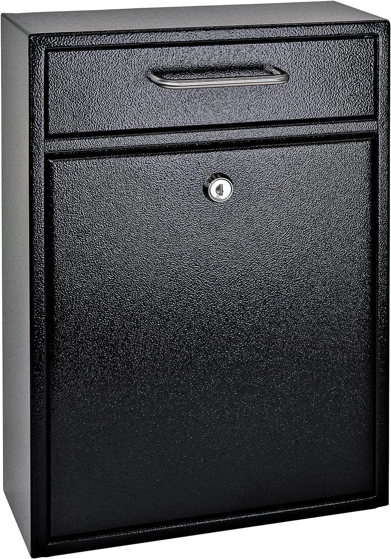 Mailbox Post Lockable Storage Combination Drop Box Residential Brick Heavy Duty