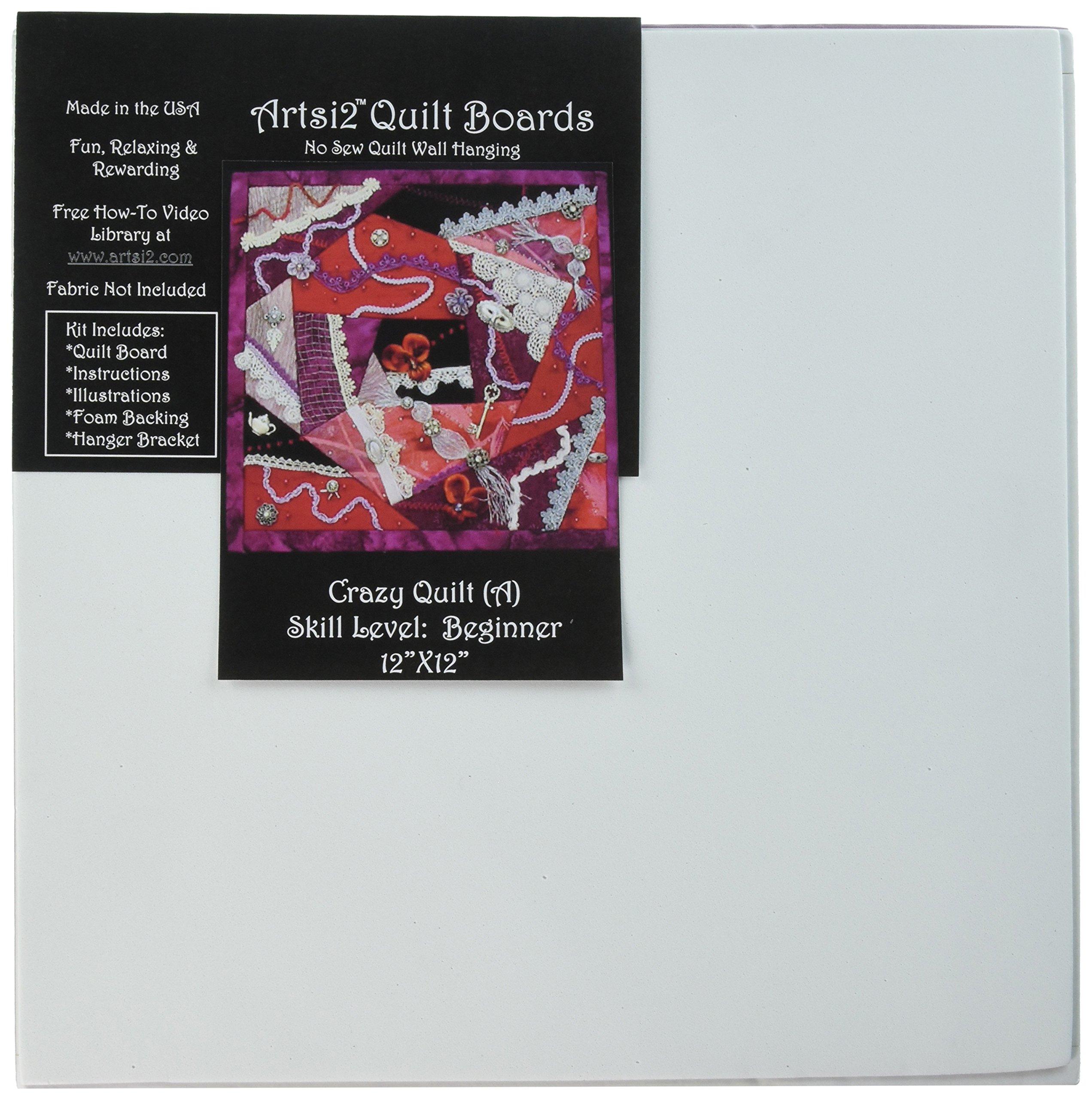 Artsi2 A2CRZYQLT Crazy Quilt Wall Hanging Kit