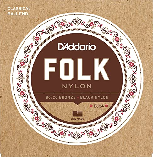 D'Addario EJ34 Folk Nylon Guitar Strings