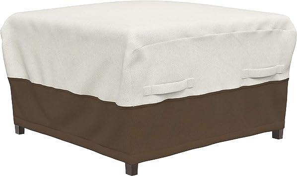 Amazon Com Amazonbasics Ottoman Outdoor Patio Furniture Cover Garden Outdoor