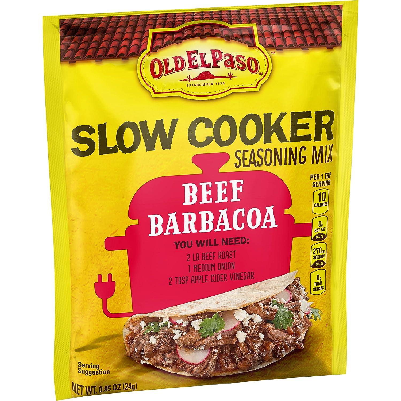 Old El Paso Slow Cooker Seasoning Mix Beef Barbacoa, 0.85 oz