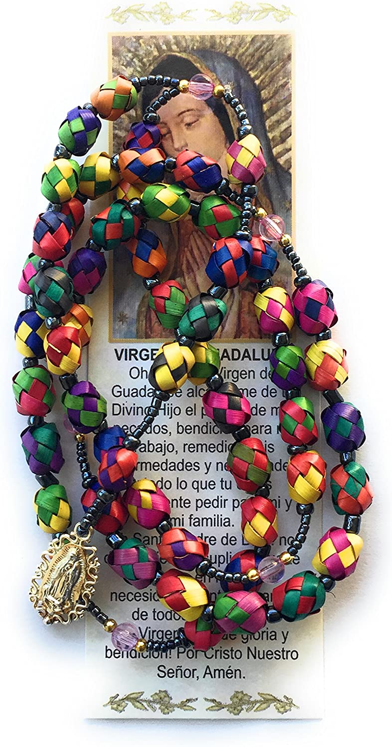 Set Necklace Handmade Costume Jewelry Mexican  beaded palm flowers unique