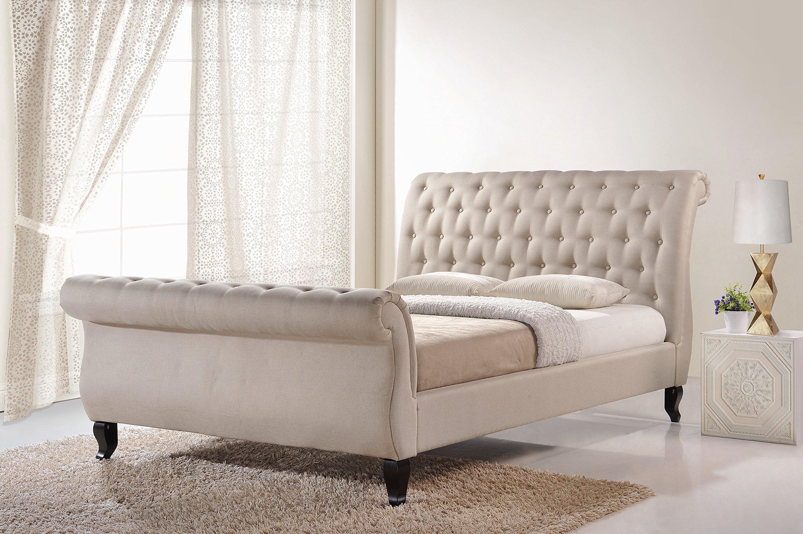 Baxton Studio Arran Linen Platform Bed