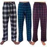 GIVEITPRO- 3 Saver Pack-100% Cotton Flannel Pajama Pant Bottoms-Yarn-dye Woven