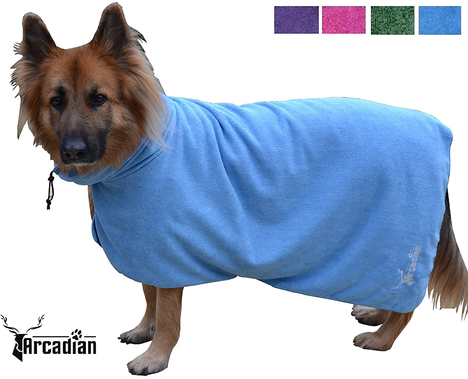 XL, Large, Medium, and Small Microfibre Dog Robes by Arcadian in ...