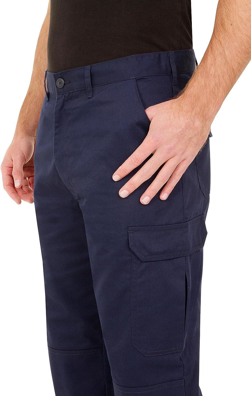 resistenti Pantaloni da lavoro da uomo vari colori disponibili Proluxe con tasche imbottite sulle ginocchia e cuciture rinforzate modello cargo
