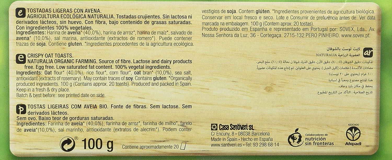 Santiveri Tostadas Ligeras De Avena - 300 g: Amazon.es ...