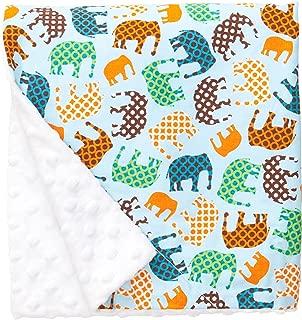 "product image for Original Baby Elephant Ears Boys & Girls Baby Blanket-Soft Minky, for Newborn Infants & Toddlers, Plush Blanket - (Blue Elephant, Large 27"" x 29"")"