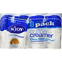 N'JOY Coffee Creamer, 16 Ounce Canisters, Pack of 8