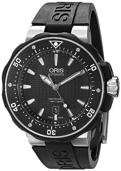 Oris 73376827154RS - Reloj de pulsera hombre, Caucho, color Negro