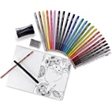 Prismacolor Premier Pencils Adult Coloring Kit with Blender, Art Marker, Eraser, Sharpener & Booklet, 29 Piece