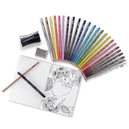 Prismacolor 1978739 Premier Pencils Adult Coloring Kit With Blender Art Marker Eraser Sharpener