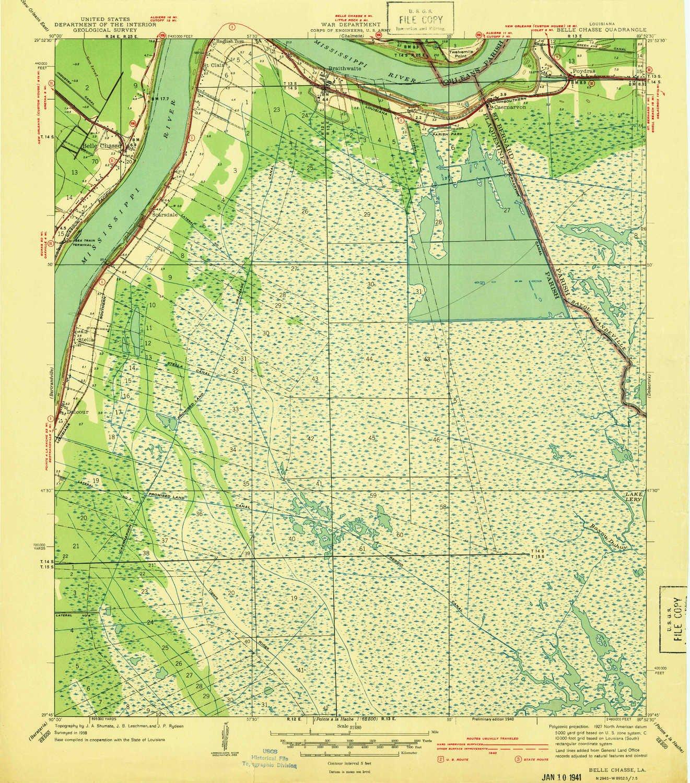 Amazon Com Belle Chasse La Topo Map 1 31680 Scale 7 5 X 7 5