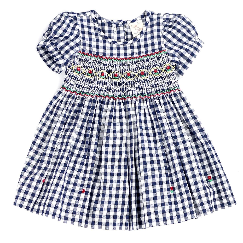 THE SILLY SISSY DRESS ベビーガールズ B07CQYYXG4 9 - 12 Months|Navy Gingham Navy Gingham 9 - 12 Months