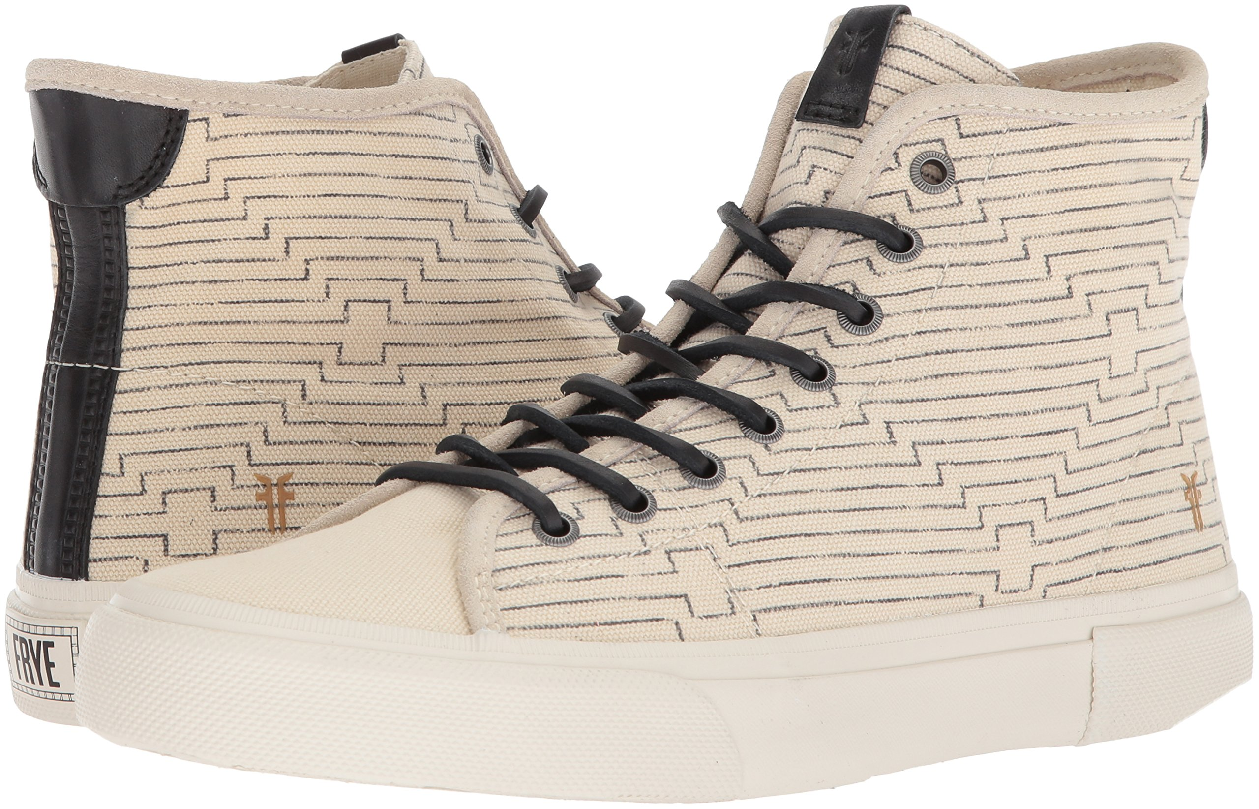FRYE Men's Ludlow High Canvas Print Sneaker, Off White, 8.5 Medium US by FRYE (Image #5)