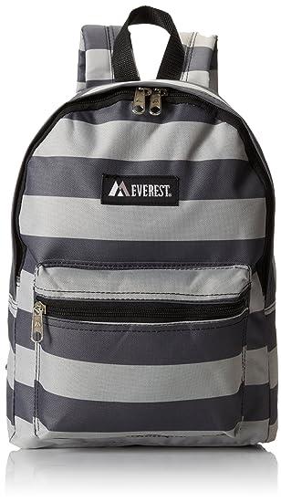 2b9861c9a367 Everest Basic Pattern Backpack, Black/Gray, One Size