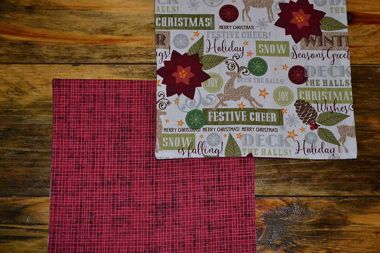 Holly Jolly Reversible Cloth Napkins//Set of 8