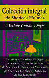 Colección integral de Sherlock Holmes: Estudio en Escarlata, El Signo de los cuatro, Las Aventuras de Sherlock Holmes, Las Memorias de Sherlock Holmes, El Sabueso de los Baskerville