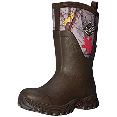 Muck Boot Arctic Sport II Mid Cut Winter Boot, Brown/Hot Leaf Camo, AS2M-HTLF | Boots