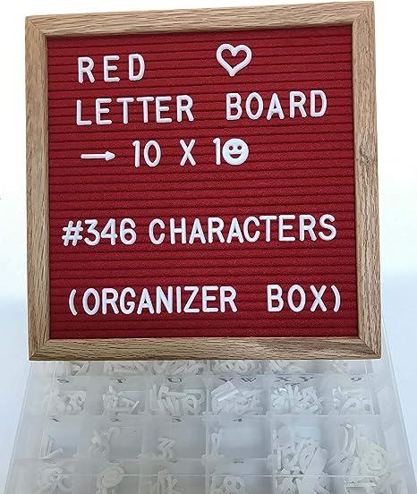 Amazon.com: Juego de cartas de fieltro – rojo – 10 x 10 ...