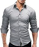 Merish Camicia Uomo Slim Fit 14 Colori Taglia S - XXL Modell 01
