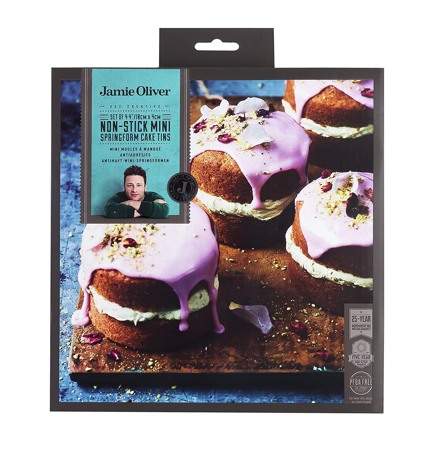 Amazon.com: Jamie Oliver Non-Stick Mini Springform Round Cake Tin - 10 cm, Harbour Blue, Set of 4 by Jamie Oliver: Paintings