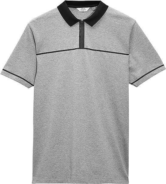 next Hombre Camisa Polo Cuello con Cremallera Manga Corta De ...