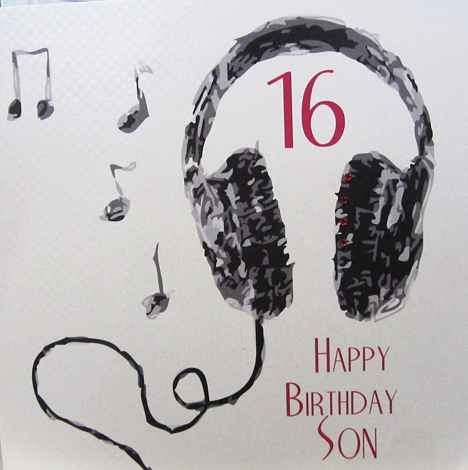 WHITE COTTON CARDS 16 Happy Son Handmade Large 16th Birthday Card Code XSB54 S16 Amazoncouk Kitchen Home