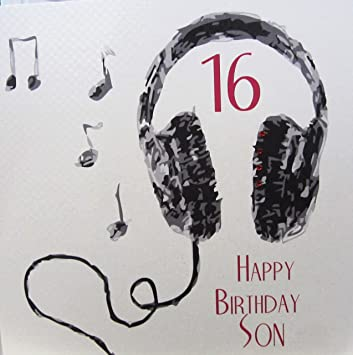 WHITE COTTON CARDS Code XSB54 S16 Large 16 Happy Birthday Son Handmade 16th Card