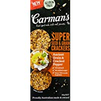 Carman's Super Seed and Grain Crackers, Ancient Grain and Cracked Pepper, 80g