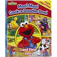 Sesame Street - Moo! Moo! Cock-a-Doodle-Doo! ...and Elmo too! First Look and Find - PI Kids