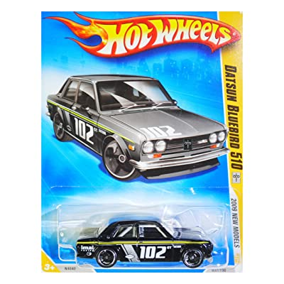 HOT WHEELS 2009 NEW MODELS 1969 DATSUN BLUEBIRD 510 VARIANT BLACK KMART COLLECTOR DAY CAR #37: Toys & Games
