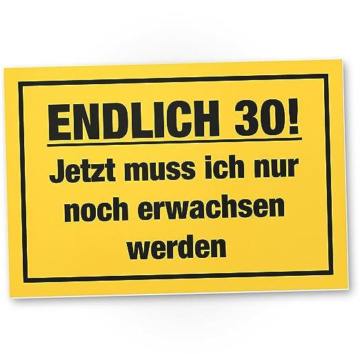 DankeDir!. por Fin 30 años, plástico Cartel - 30 cumpleaños ...