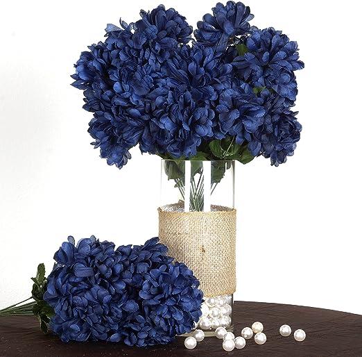 Amazon Com Balsacircle 56 Navy Blue Silk Chrysanthemums 4