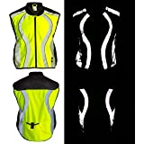 BTR High Visibility Reflective Gilet. Vest / Sash is suitable for running, cycling, motorbikes, horse riding, safety work wear & more