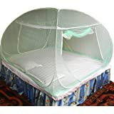 Healthy Sleeping Foldable Polyester Double Bed Mosquito Net - Embroidery (Sea Green)