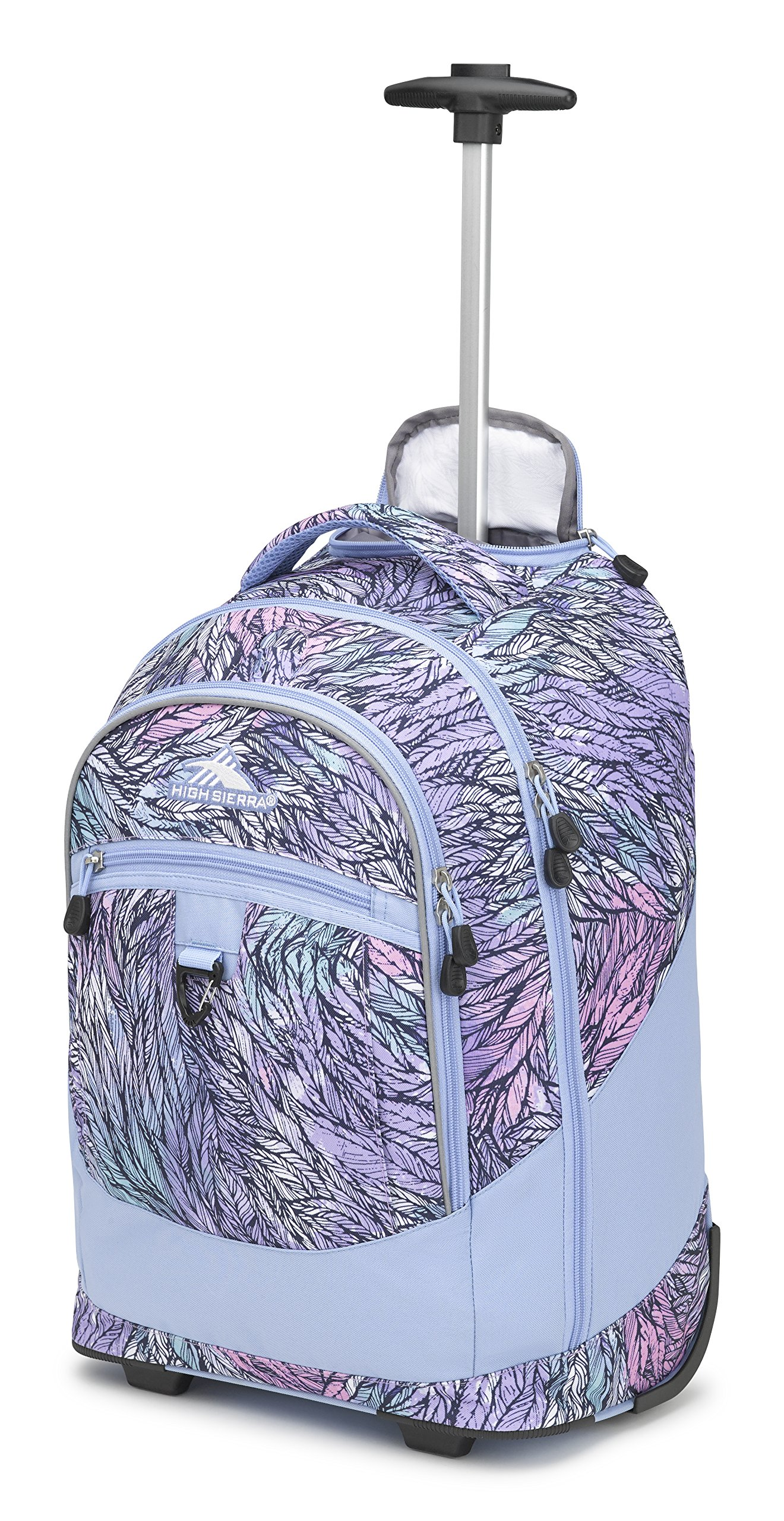 High Sierra Chaser Wheeled Laptop Backpack, Feather Spectre/Powder Blue