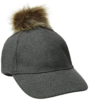rampage women winter cap fur pom charcoal one size soldier baseball mlb hat with ear flaps broncos