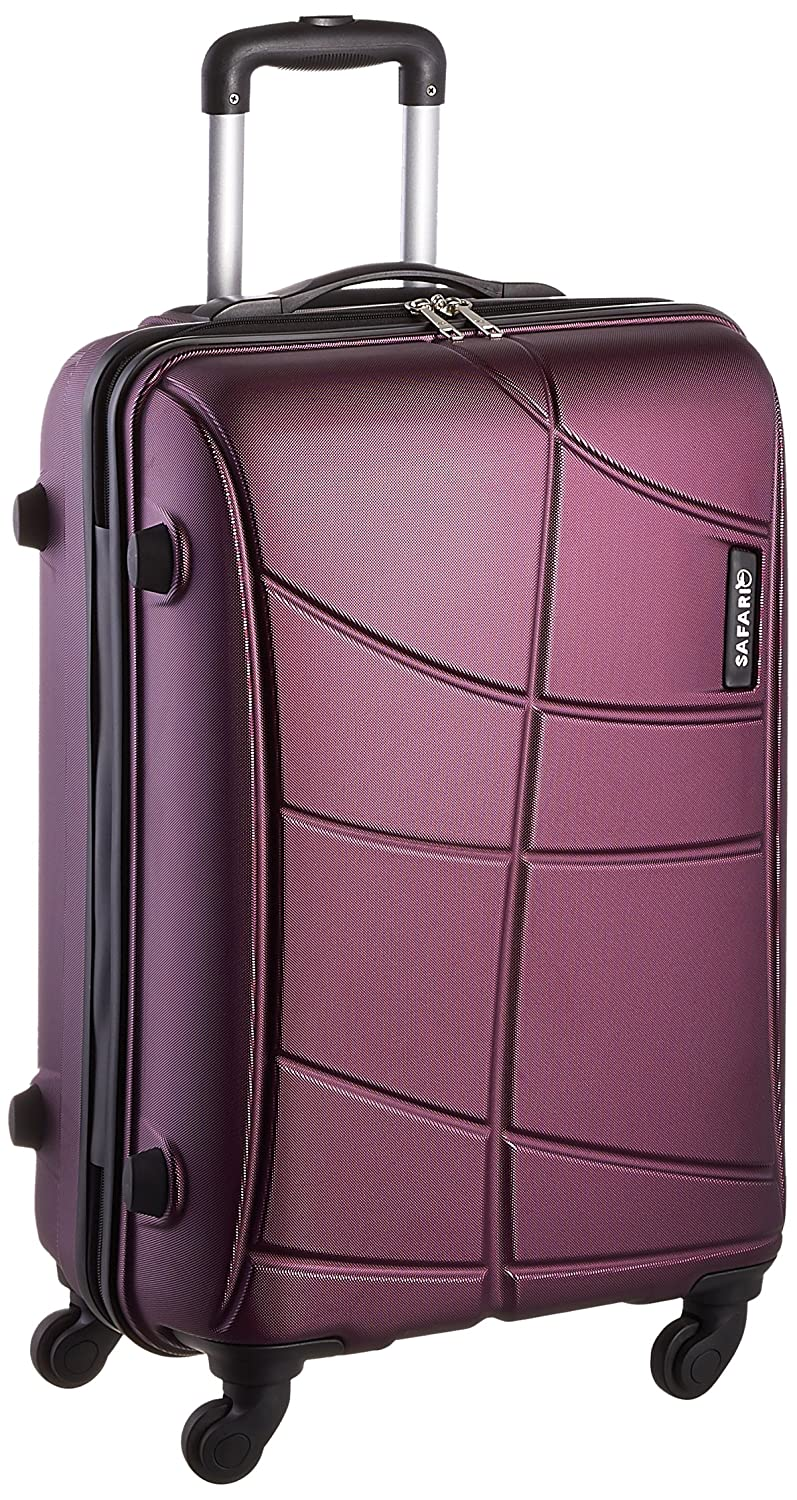 626d1933d6 Safari Polycarbonate 65 Cms Purple Hard Sided Suitcase   Trolley Bag   Amazon.in  Bags