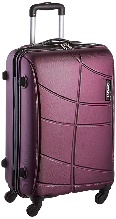 4a6a14a24292 Safari Polycarbonate 65 Cms Purple Hard Sided Suitcase & Trolley Bag