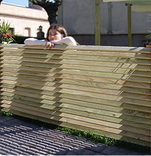 panel de madera separador para vallas o techos de madera tratada 160x90 cm - Vallas Madera Jardin